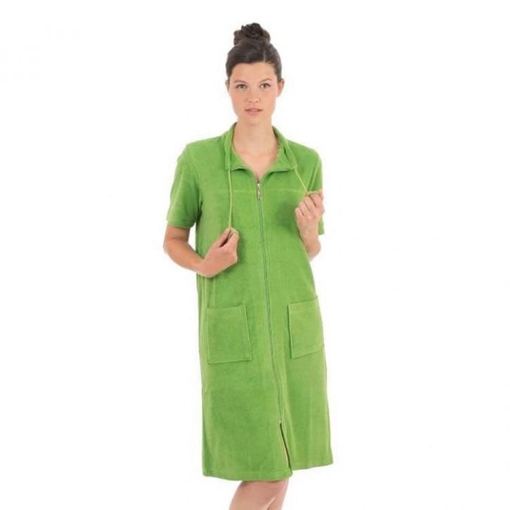 Havlu Elbise Yarım Kol Boyundan İpli Yeşil