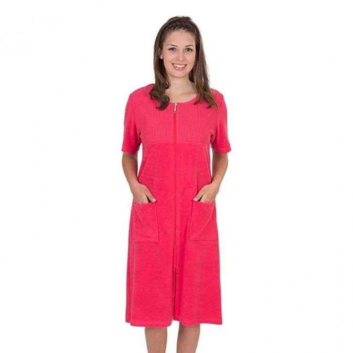 Havlu Elbise Yarım Kol Robalı Çilek