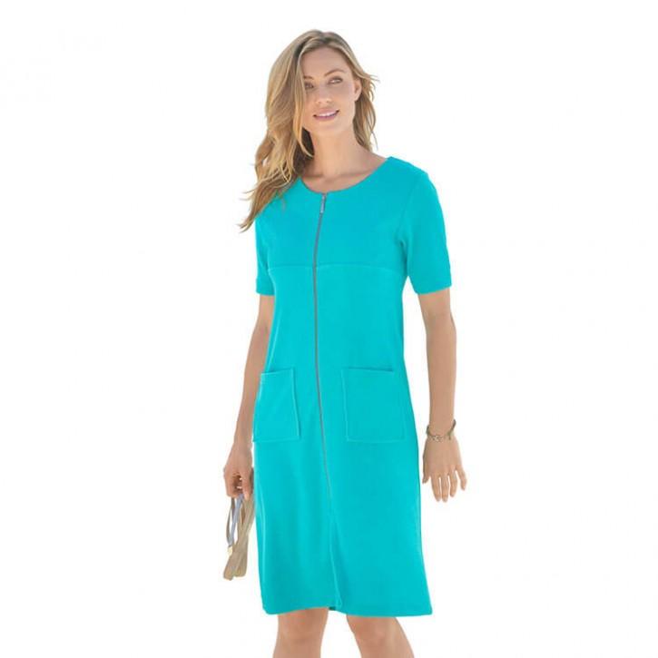 Havlu Elbise Yarım Kol Robalı Mint
